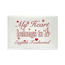 English Foxhound Dog Designs Rectangle Magnet (10