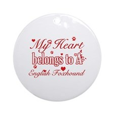 English Foxhound Dog Designs Ornament (Round)