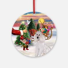 Santa's Treat - Standard Poodle Ornament (Round)