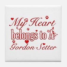 Gordon Setter Dog Designs Tile Coaster