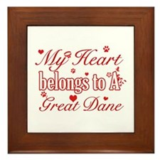 Great Dane Dog Designs Framed Tile