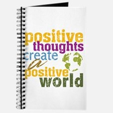 Positive Thoughts Create a Positive World Journal