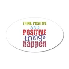 Think Positive and Positive Wall Decal