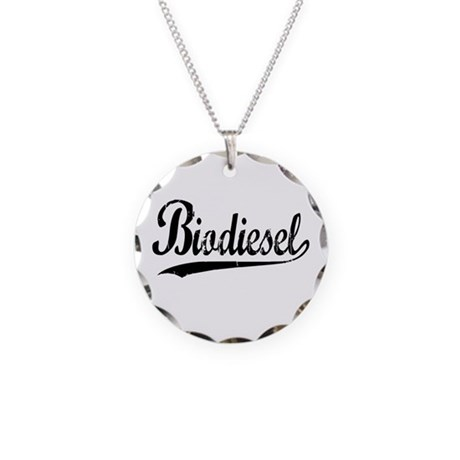 Biodiesel Necklace Circle Charm