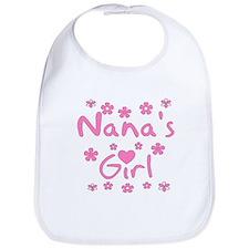 """""""Nana's Girl"""" Baby Girl Bib"""