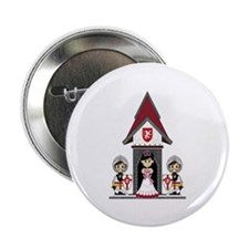 "Princess & Crusader Knights 2.25"" Button"