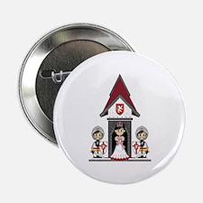 """Princess & Crusader Knights 2.25"""" Button"""