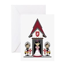Princess & Crusader Knights Greeting Card