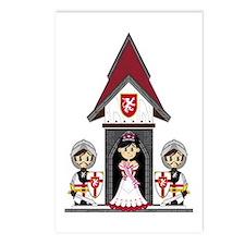 Princess & Crusader Knights Postcards (Pk of 8