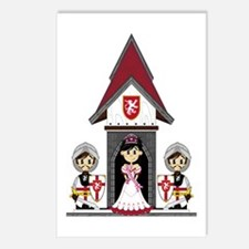 Princess & Crusader Knights Postcards (Pk of 8
