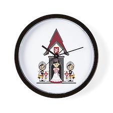 Princess and Crusader Knights Wall Clock