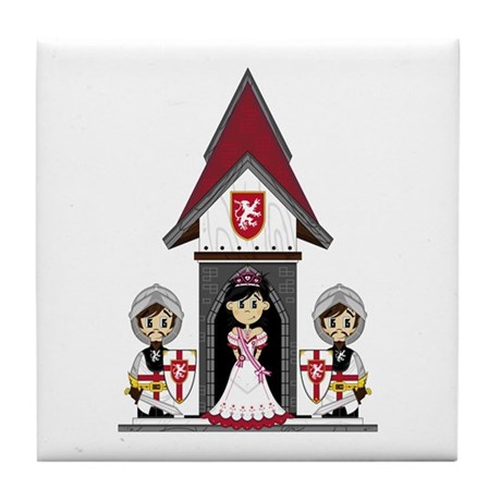 Princess & Crusader Knights Tile Coaster