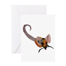 Stenciled Rat Greeting Card