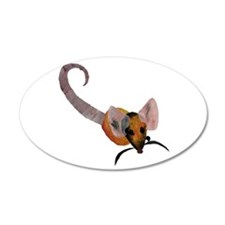 Stenciled Rat Wall Decal
