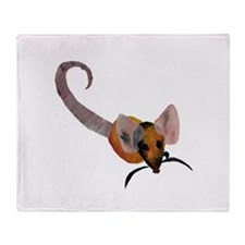 Stenciled Rat Throw Blanket