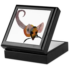 Stenciled Rat Keepsake Box