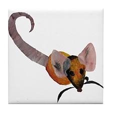 Stenciled Rat Tile Coaster