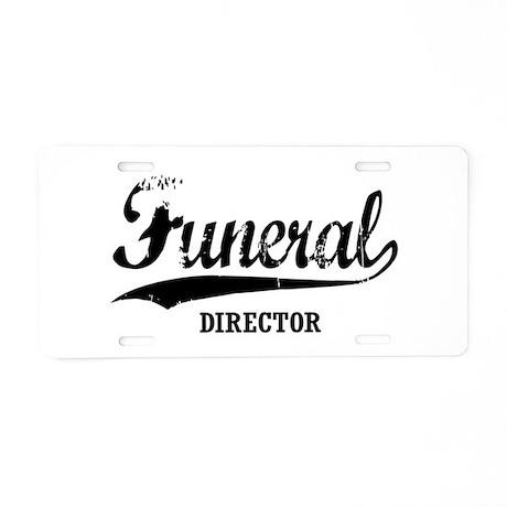 Funeral Director Aluminum License Plate