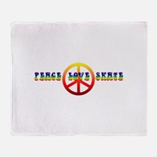Peace Love Skate Throw Blanket