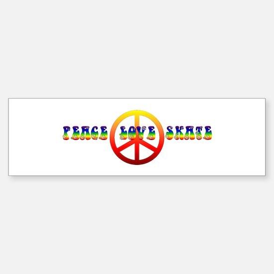 Peace Love Skate Sticker (Bumper)