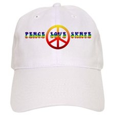 Peace Love Skate Baseball Cap