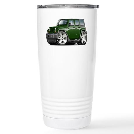 Wrangler Green Car Stainless Steel Travel Mug