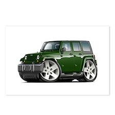 Wrangler Green Car Postcards (Package of 8)