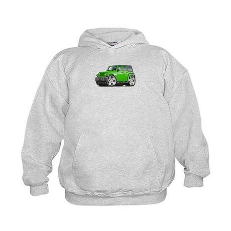 Wrangler Lime Car Kids Hoodie