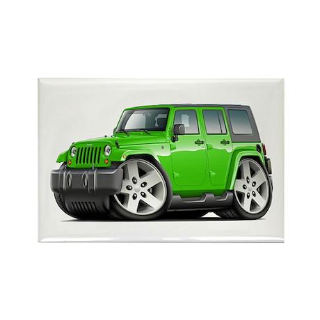 Wrangler Lime Car Rectangle Magnet