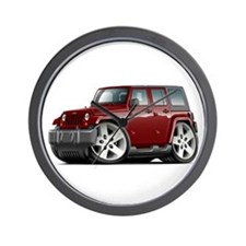 Wrangler Maroon Car Wall Clock
