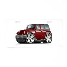 Wrangler Maroon Car Aluminum License Plate