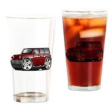 Wrangler Maroon Car Drinking Glass