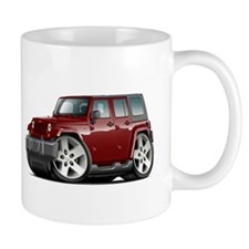 Wrangler Maroon Car Mug
