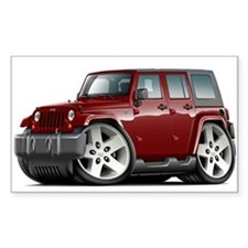 Wrangler Maroon Car Decal