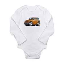 Wrangler Orange Car Long Sleeve Infant Bodysuit