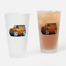 Wrangler Orange Car Drinking Glass