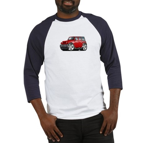Wrangler Red Car Baseball Jersey