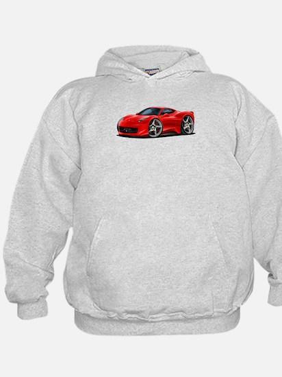 458 Italia Red Car Hoody