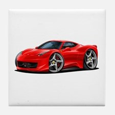 458 Italia Red Car Tile Coaster