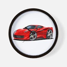 458 Italia Red Car Wall Clock