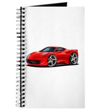 458 Italia Red Car Journal