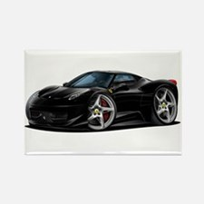 458 Italia Black Car Rectangle Magnet