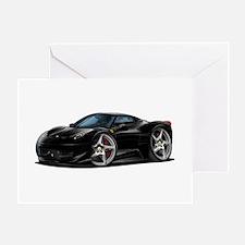 458 Italia Black Car Greeting Card