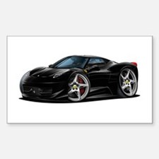 458 Italia Black Car Sticker (Rectangle)