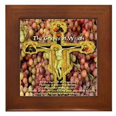 The Grapes of Wrath Steinbeck Quote Framed Tile