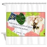 Nature Quote Collage Shower Curtain