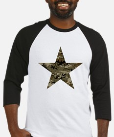Star, distressed camo Baseball Jersey