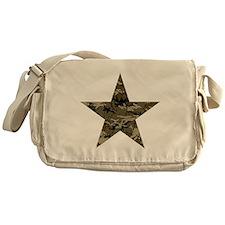 Star, distressed camo Messenger Bag