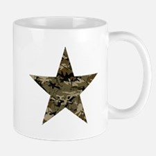 Star, distressed camo Small Small Mug