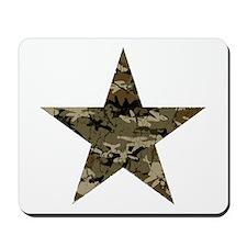 Star, distressed camo Mousepad